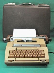 Vintage Smith Corona Coronet Xl Electric Typewriter Brown Serviced