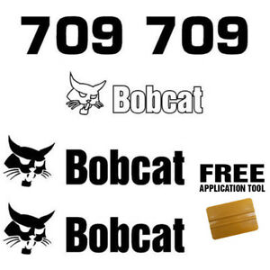 Bobcat 709 Backhoe Attachment Skid Steer Vinyl Decal Sticker Free Applicator