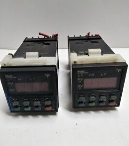 Lot Of 2 Fuji Electric Pxz 4 Temperature Controller Pxz4 ray1 5v d With Socket