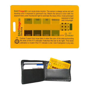 Radtriage 50 Personal Radiation Detector For Wallet Or Pocket Free Shipping