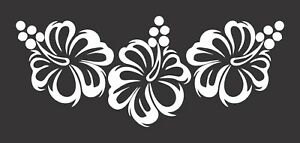Hibiscus Flowers Tropical 677 Die Cut Vinyl Window Decal Sticker For Car Truck
