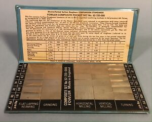 Fowler 52 720 000 Surface Roughness Comparison Standards Pocket Set