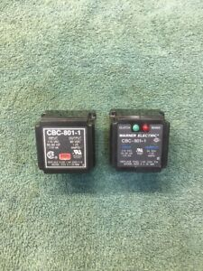 Warner Electric Cbc 801 1 Industrial Control System Clutch brake Relay Lot Of 2