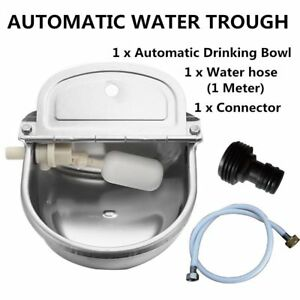 Automatic Water Trough Stainless Steel Bowl Auto For Dog Horse Sheep With Water