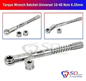 Dental Implant Torque Wrench Ratchet Universal 10 40 Ncm Hex 6 35mm