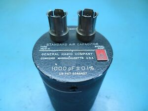General Radio Air Capacitor Standard 1000pf 700v 0 1 1403 a