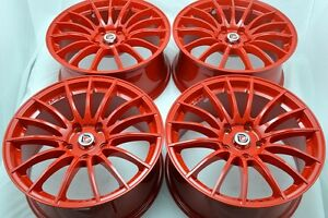 17 Red Wheels Rims Accord Sportage Soul Forte Amanti Veloster Civic Rsx 5x114 3