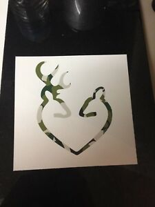 Camo Browning Deer Doe Love Decal Sticker Window Jeep Car Truck Suv Laptop