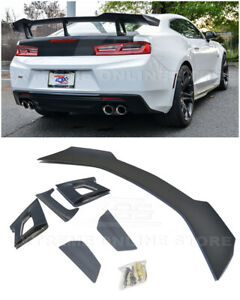 Fits 16 up Chevrolet Camaro Zl1 1le Style Primer Black Rear Trunk Wing Spoiler