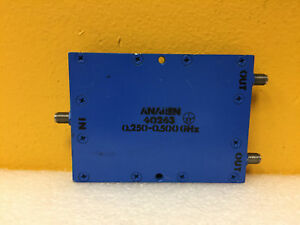 Anaren 40263 250 To 500 Mhz 3 Db Sma f 2 Way Coaxial Power Divider Tested