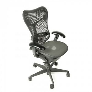 Herman Miller Mirra Office Chair Fully Loaded Tilt Lock Adj Arms Posturefit