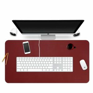 Leather Desk Mat Pad Protector Organizer With Comfortable Writing Surface