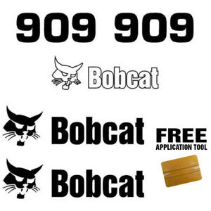 Bobcat 909 Backhoe Attachment Skid Steer Vinyl Decal Sticker Free Applicator