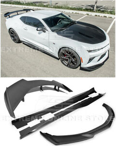 Zl1 Style Front Lip Splitter Side Skirts 1le Rear Spoiler For 16 up Camaro Ss