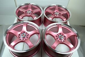 17 Pink Wheels Rims Rav4 Crv Crz Veloster Optima Elantra Civic Tsx 5x100 5x114 3