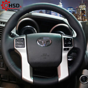 Leather Steering Wheel Cover For Toyota Land Cruiser Prado 2010 14 Tundra Tacoma