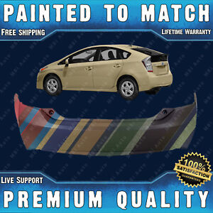 New Painted To Match Rear Bumper Cover Replacement For 2010 2015 Toyota Prius