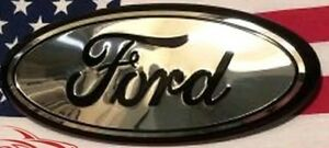 Chrome Black 2005 2014 Ford F150 Front Grille Tailgate 9 Inch Oval Emblem 1pc