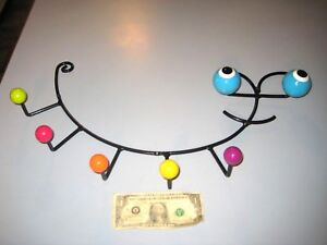 Eames Style Retro Bug Shaped Wire Wall Rack With Eyes Colored Balls