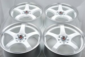 15 White Wheels Rims Civic Accord Crx Del Sol Aveo Integra Corolla 4x100 4x114 3