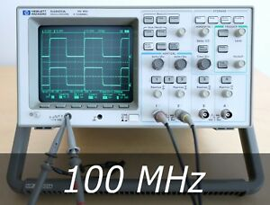 Hp Agilent 54601a 4 channel 100 Mhz Oscilloscope 2 New Probe Very Clean