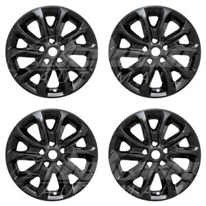 17 Black Wheel Skins Hubcaps 4 Pcs For 2018 2019 Chevy Equinox L Ls Lt