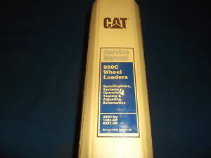 Cat Caterpillar 980c Wheel Loader Service Shop Repair Manual Specs Test Maint