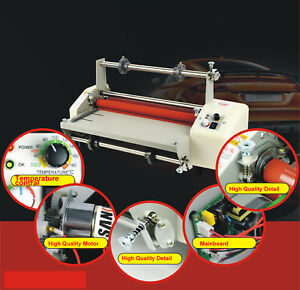 A2 17 3in Width Automatic Hot cold Laminating Machine Thermal Laminator 110v