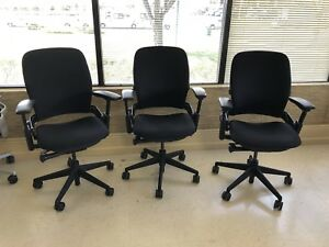 Steelcase Leap V2 Fully Loaded Black Fabric And Black Frame