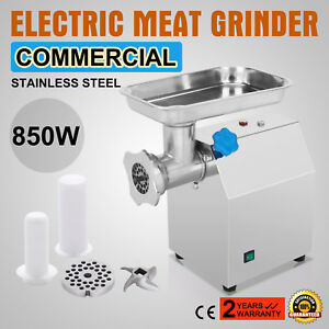 Stainless Steel Commercial Meat Grinder 12 850w 4 5lbs min 190r min Food 1 14hp