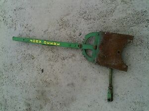 John Deere Plow Mower Disk Jd Hand Control Lever Mount Bracket Linkage Rod
