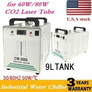110v Thermolysis Industrial Water Chiller For Cnc Engraver 60 80w Co2 Glass Tube