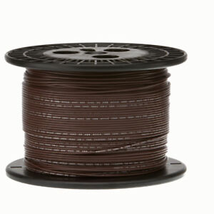 30 Awg Gauge Stranded Hook Up Wire Brown 1000 Ft 0 0100 Ptfe 600 Volts