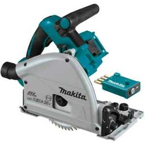 Makita Xps02zu 18v X2 Lxt Li ion 36v Brushless 6 1 2 Plunge Circ Saw Aws New