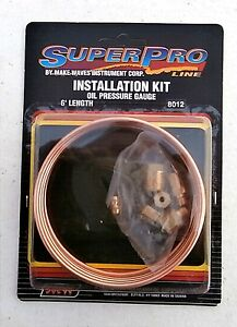 Super Pro Copper Oil Line Pressure Kit 8012 For Mechanical Oil Psi Gauge