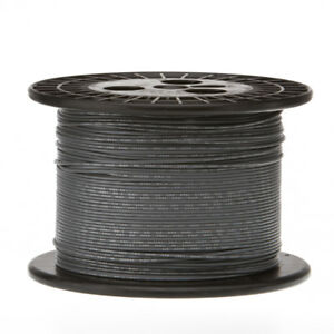 30 Awg Gauge Stranded Hook Up Wire Gray 1000 Ft 0 0100 Ptfe 600 Volts