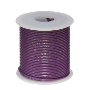 30 Awg Gauge Stranded Hook Up Wire Violet 25 Ft 0 0100 Ptfe 600 Volts
