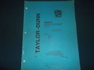 Taylor dunn B2 38 B2 48 B2 54 Forklift Operation Maintenance Manual Book