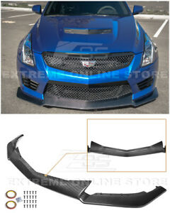 For 16 up Cadillac Ats v Carbon Fiber Package Front Bumper Lower Lip Splitter