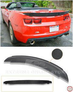 Zl1 Style Rear Wing Spoiler W Carbon Fiber Wickerbill Insert For 10 13 Camaro