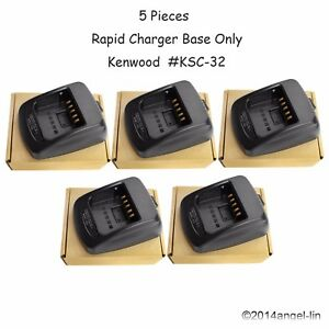 Lot 5 Ksc 32 Charger Base Only For Kenwood Nx210g Nx230exe Nx330exe Radio