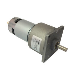 Dc 12 24v Geared Motor Reducer With Metal Gearbox High Torque Parallel Shaft