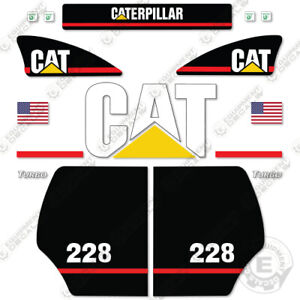 Caterpillar 228 Decal Kit Equipment Decals Older Style