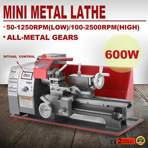 Brushless Motor Mini Metal Lathe Woodworking Tool Drilling Bench Top 2500rpm