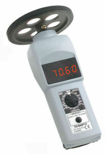 Shimpo Dt 107a s12 Contact Style Digital Handheld Tachometer Led 12in Wheel