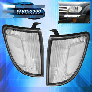 For 98 00 Tacoma 4wd Chrome Housing Clear Corner Lights Lamps Pair Lh Rh Set
