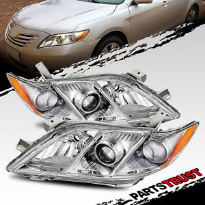 For 2007 2008 2009 Toyota Camry Jdm Chrome Projector Headlights Head Lamps