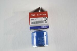 Genuine Kia Hyundai Engine Oil Filters W Drain Washers 26300 35504 Oem