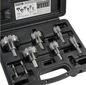 Klein Tools 8 piece Master Electrician s Hole Cutter Kit With Carbide Tip 31873
