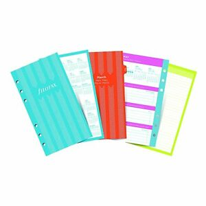Filofax 2018 Personal Compact Refill Week To View Illustrated Stripes 5 6 75